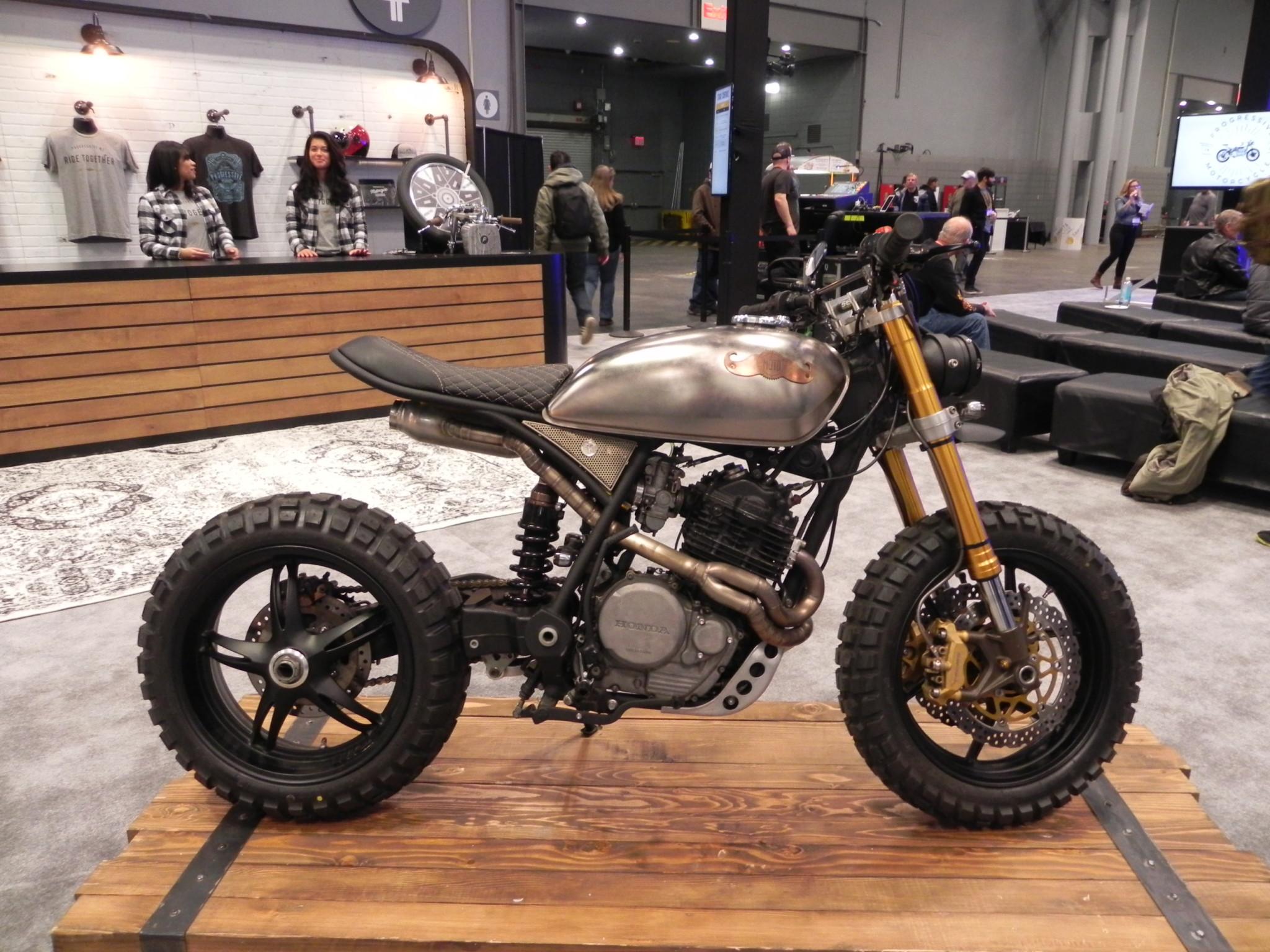 Honda Flat Tracker Custom Left Motorcycle Product