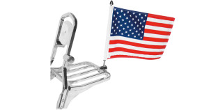 american flag square mount